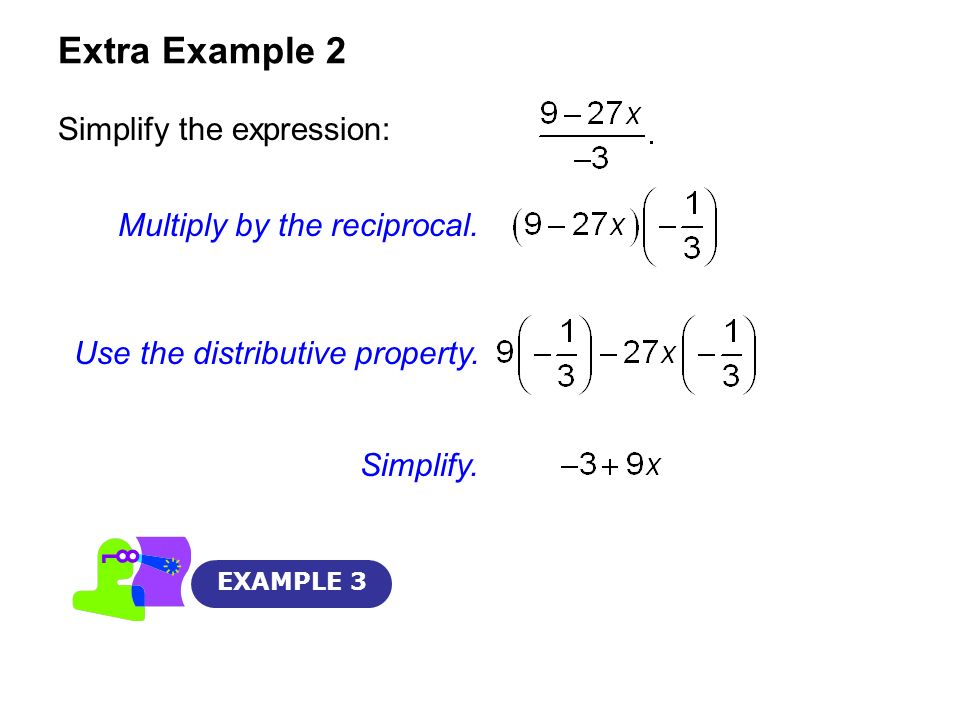 Extra Example 2 Simplify the expression: Multiply by the reciprocal.