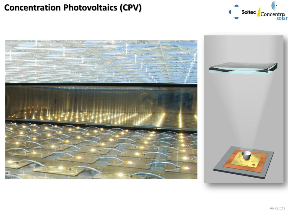 Concentration Photovoltaics (CPV)