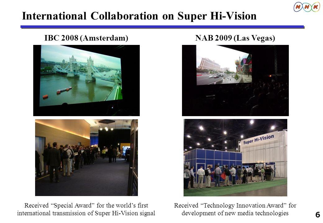 International Collaboration on Super Hi-Vision