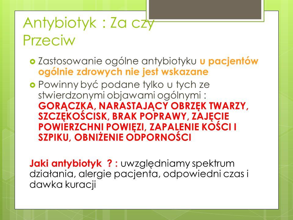 Antybiotyk : Za czy Przeciw