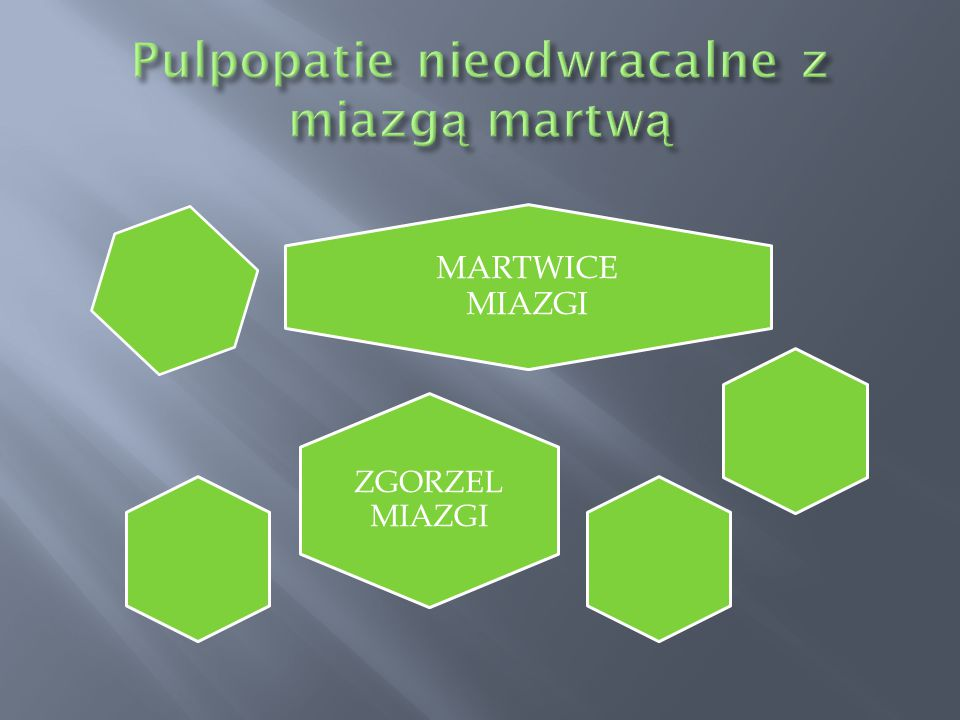 Pulpopatie nieodwracalne z miazgą martwą