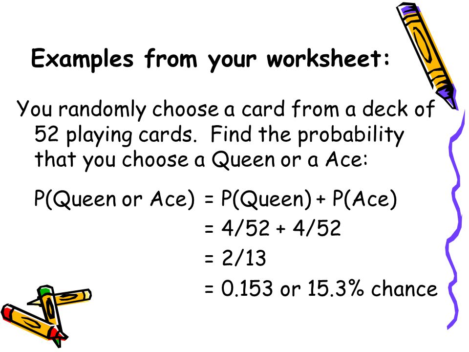 Examples from your worksheet: