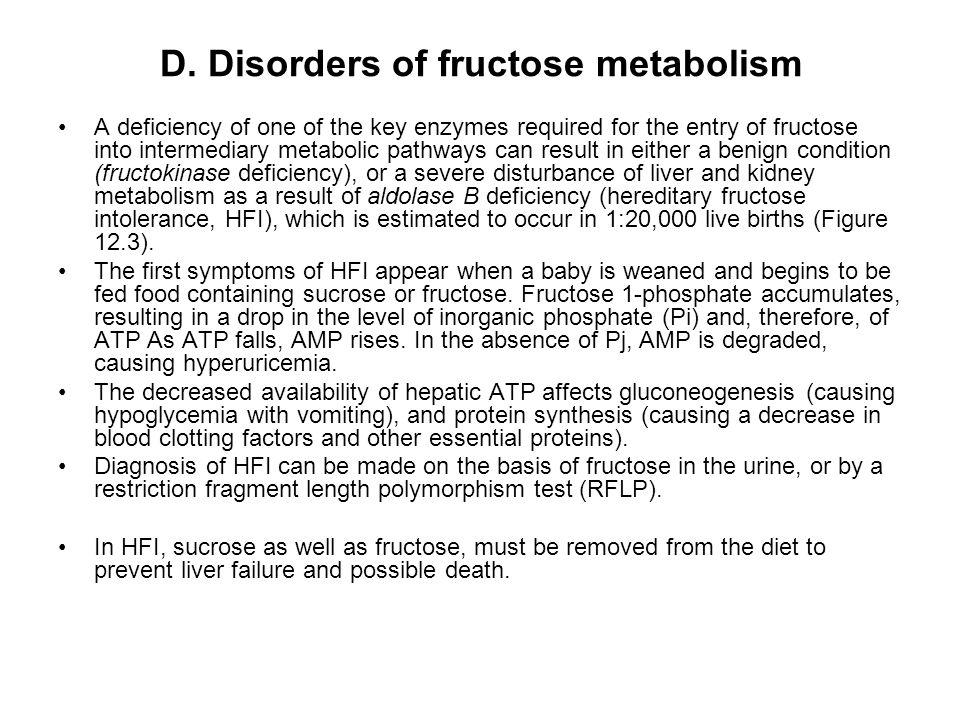 D. Disorders of fructose metabolism