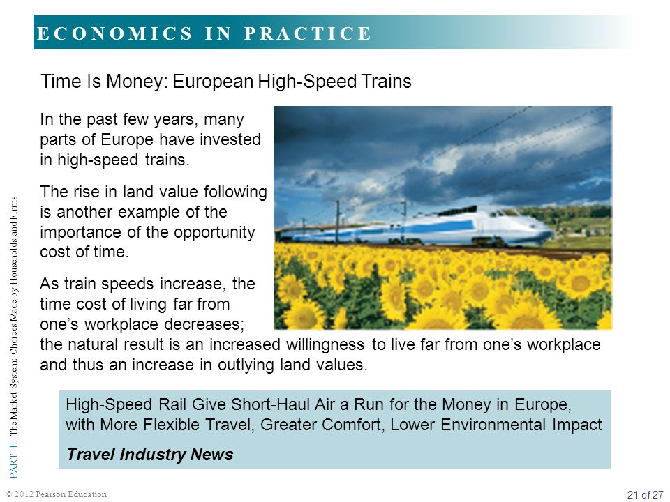 Time Is Money: European High-Speed Trains