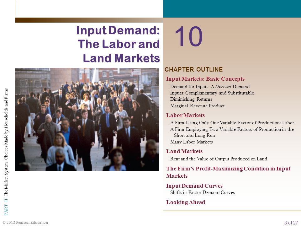 10 Input Demand: The Labor and Land Markets CHAPTER OUTLINE