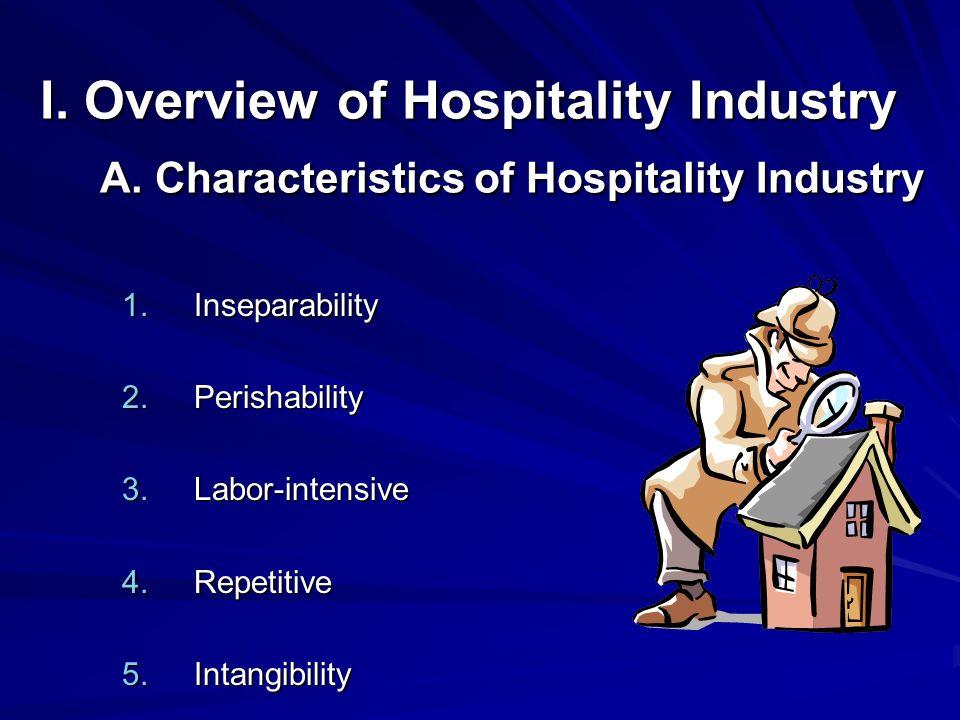Inseparability Perishability Labor-intensive Repetitive Intangibility