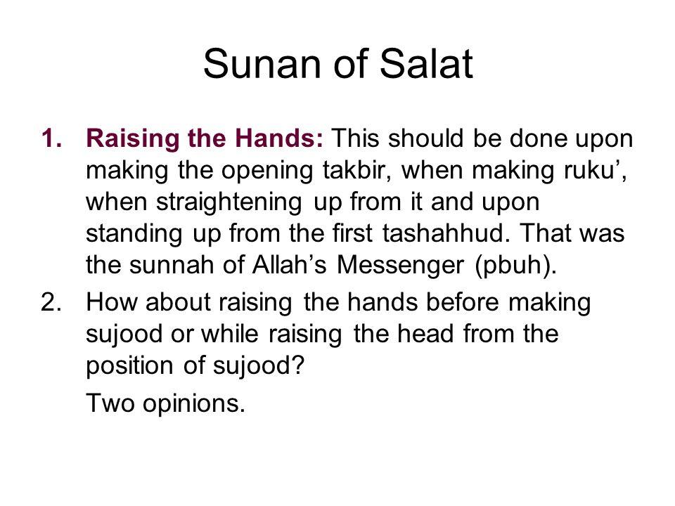 Sunan of Salat