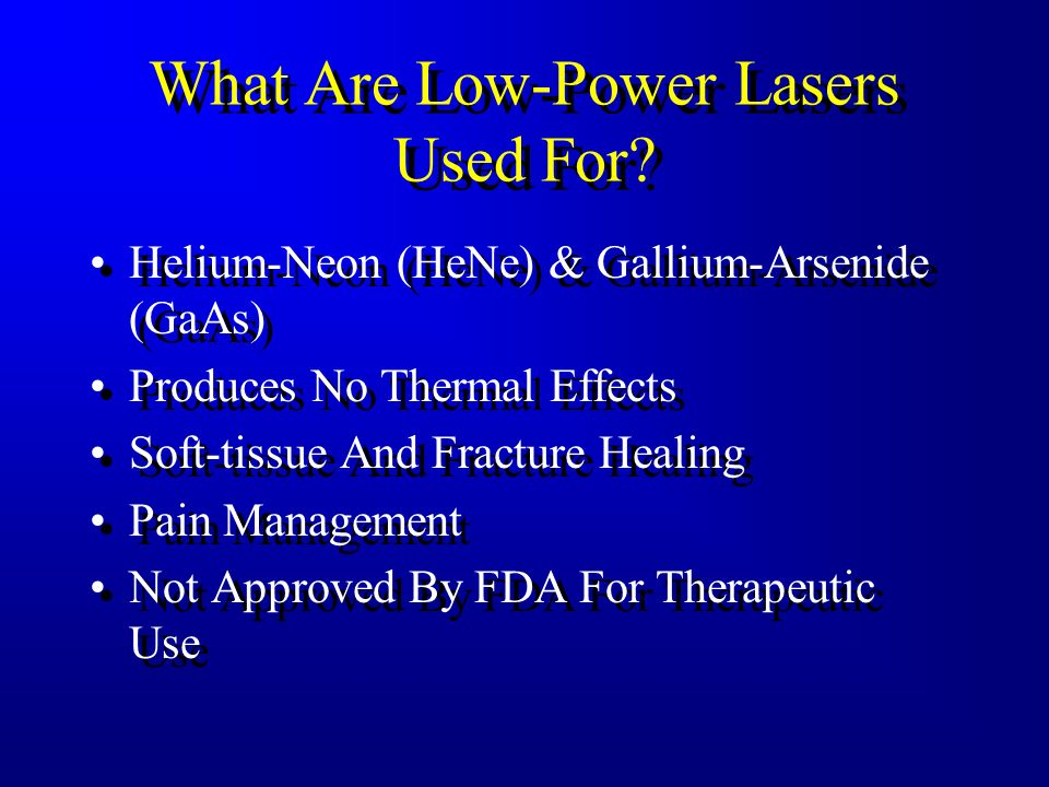 What Are Low-Power Lasers Used For