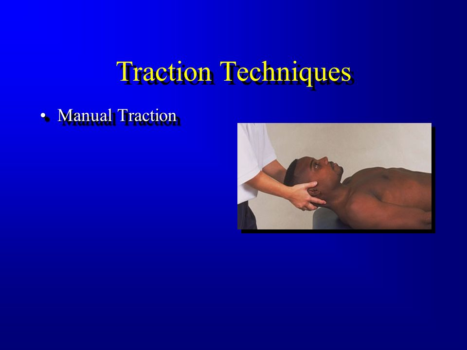 Traction Techniques Manual Traction