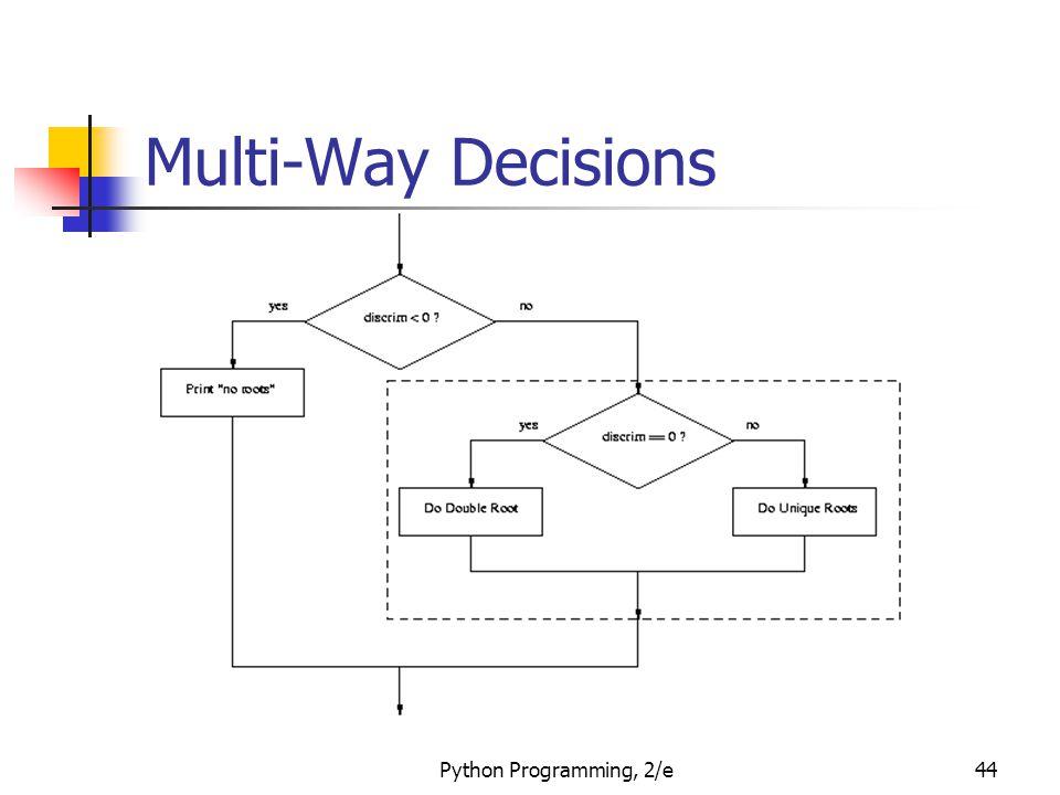 Multi-Way Decisions Python Programming, 2/e