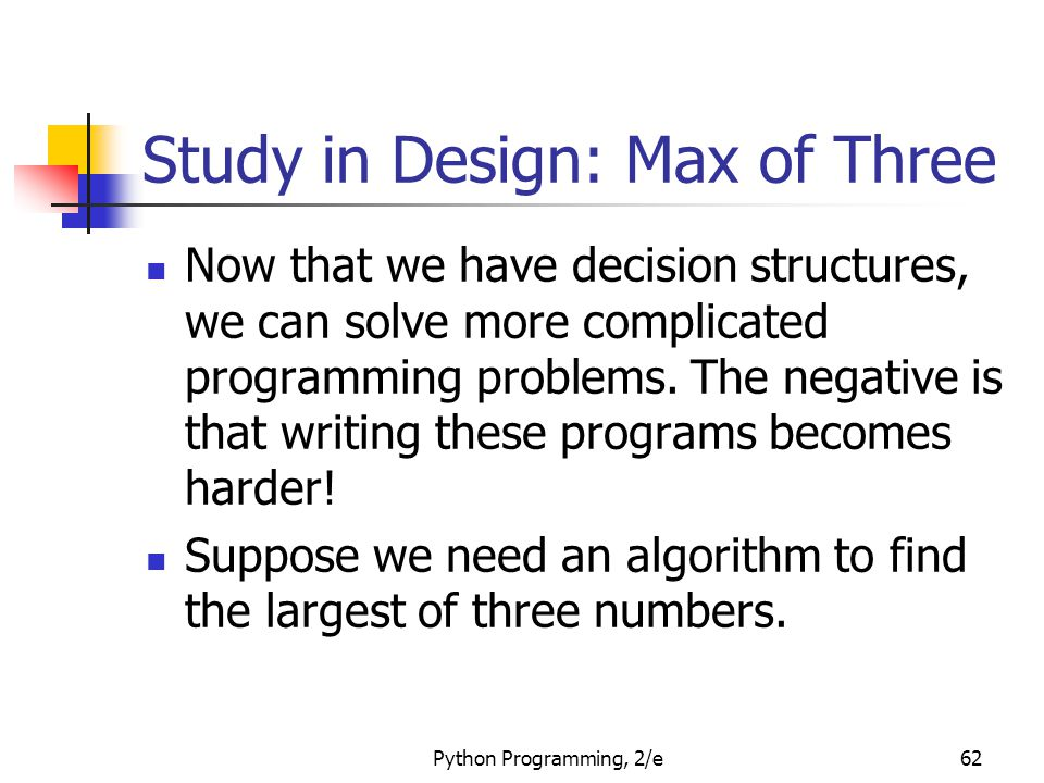 Study in Design: Max of Three