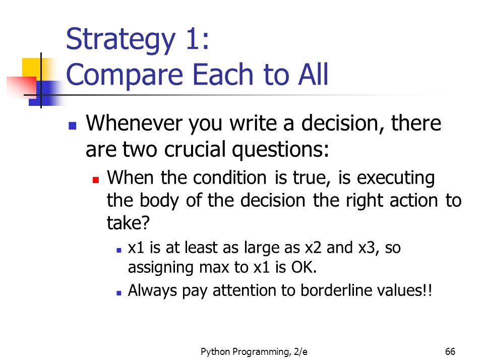 Strategy 1: Compare Each to All