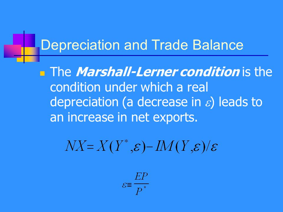 Depreciation and Trade Balance