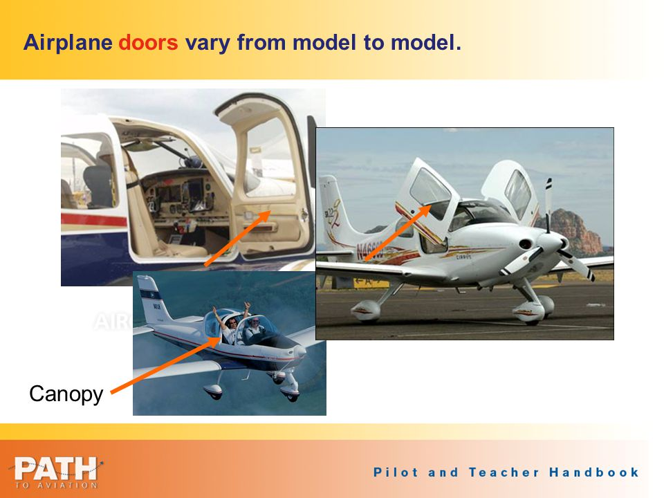 Airplane doors vary from model to model.