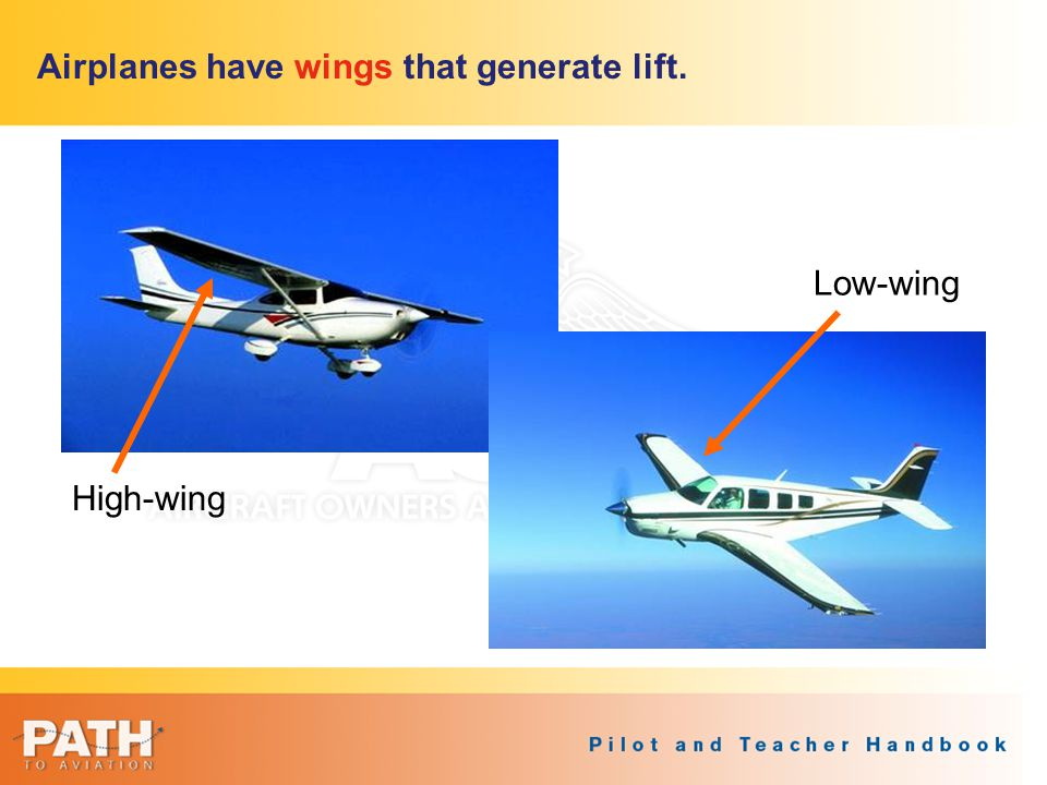 Airplanes have wings that generate lift.