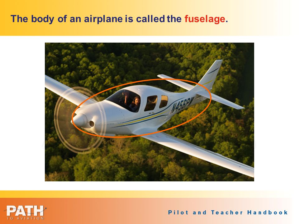 The body of an airplane is called the fuselage.