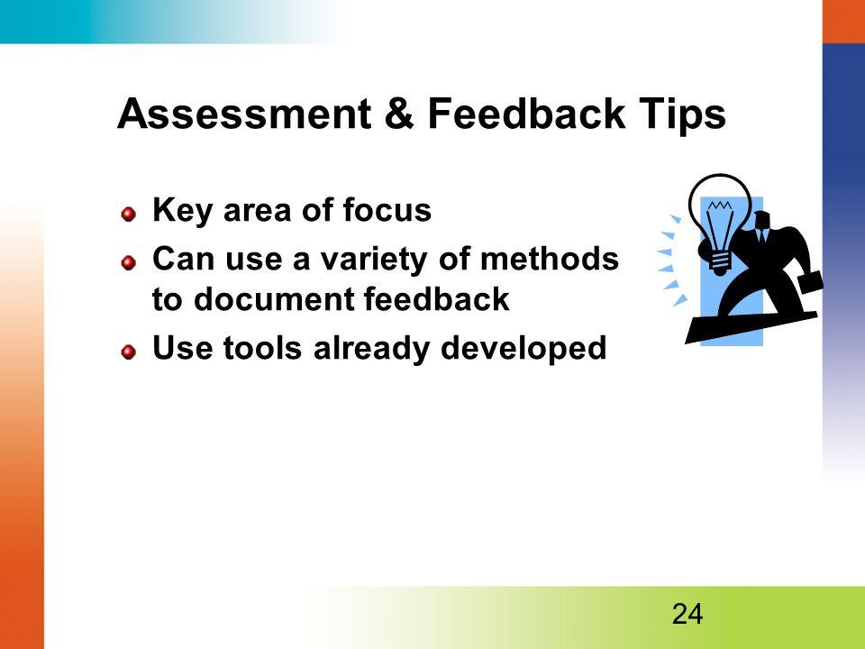 Assessment & Feedback Tips