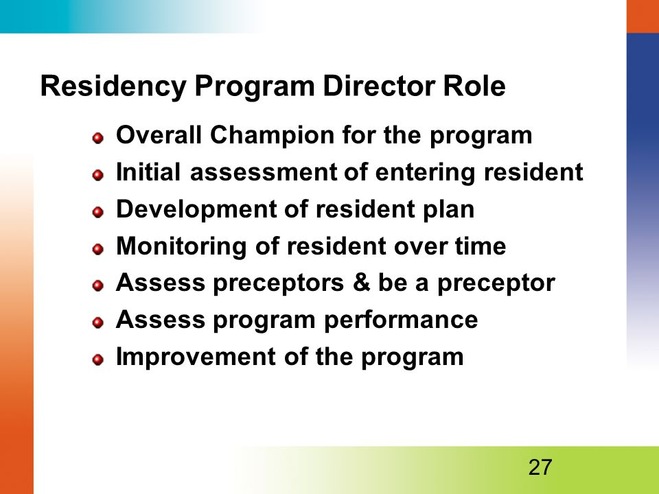 Residency Program Director Role