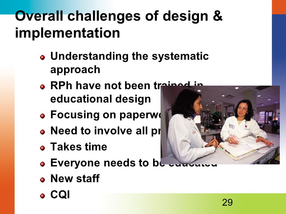 Overall challenges of design & implementation
