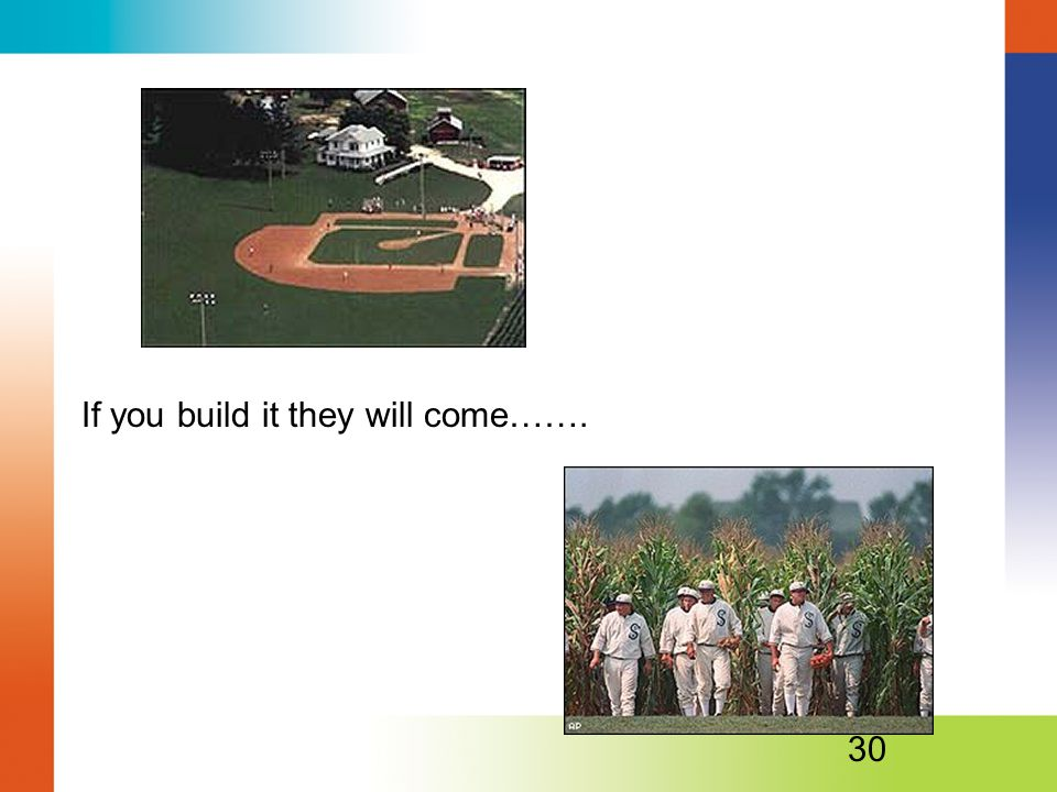 If you build it they will come…….