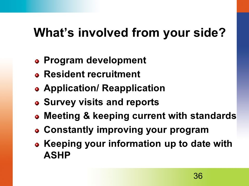What's involved from your side