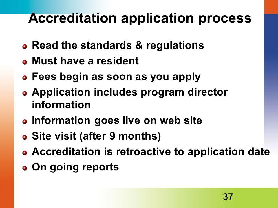 Accreditation application process