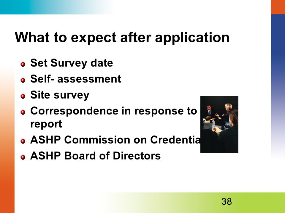What to expect after application