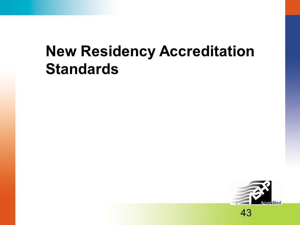 New Residency Accreditation Standards