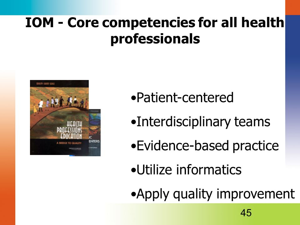 IOM - Core competencies for all health professionals