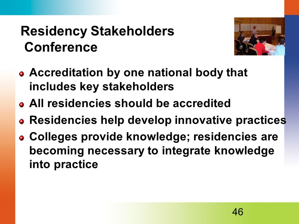 Residency Stakeholders Conference