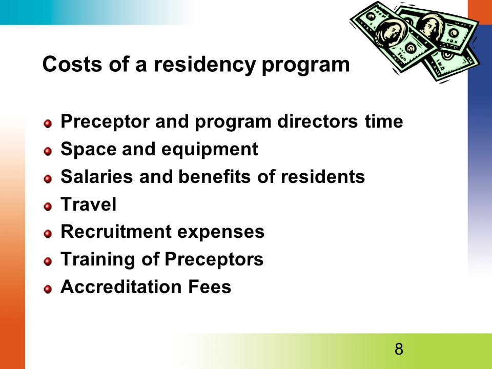 Costs of a residency program