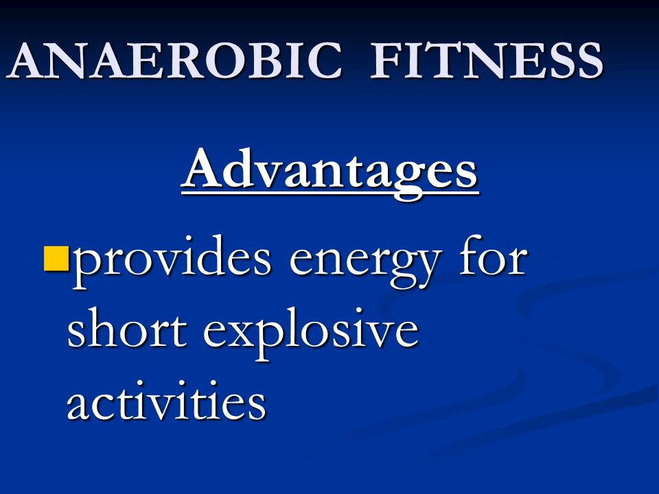 provides energy for short explosive activities
