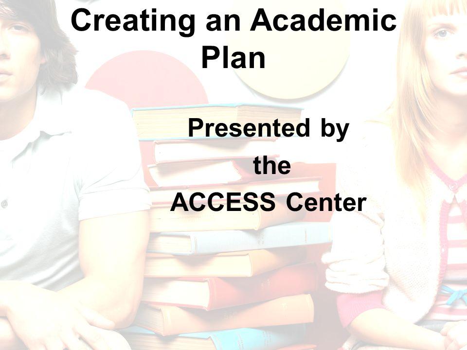 Creating an Academic Plan