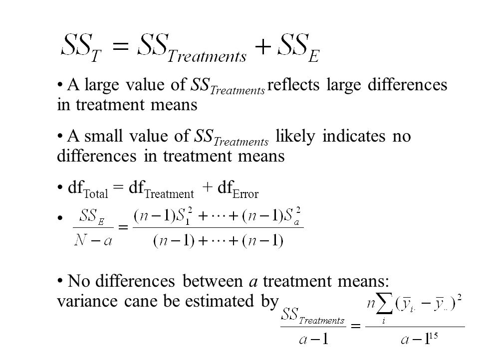 A large value of SSTreatments reflects large differences in treatment means