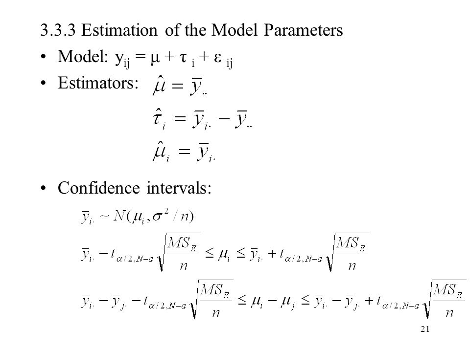 3.3.3 Estimation of the Model Parameters