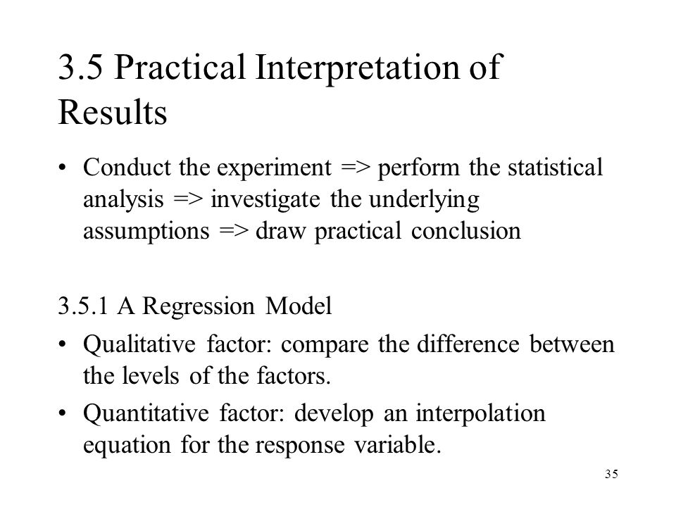 3.5 Practical Interpretation of Results