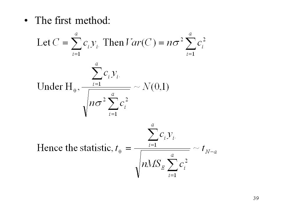 The first method: