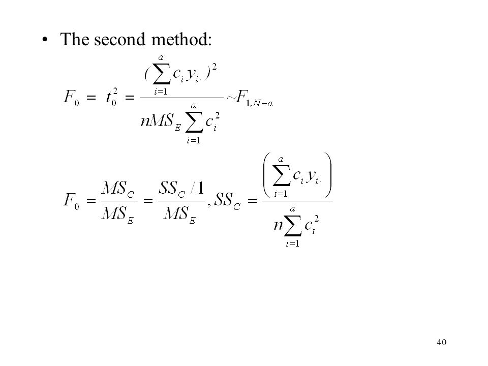 The second method: