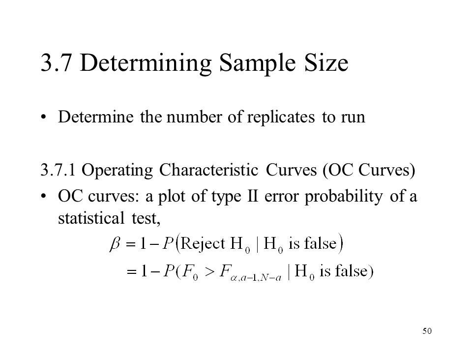3.7 Determining Sample Size