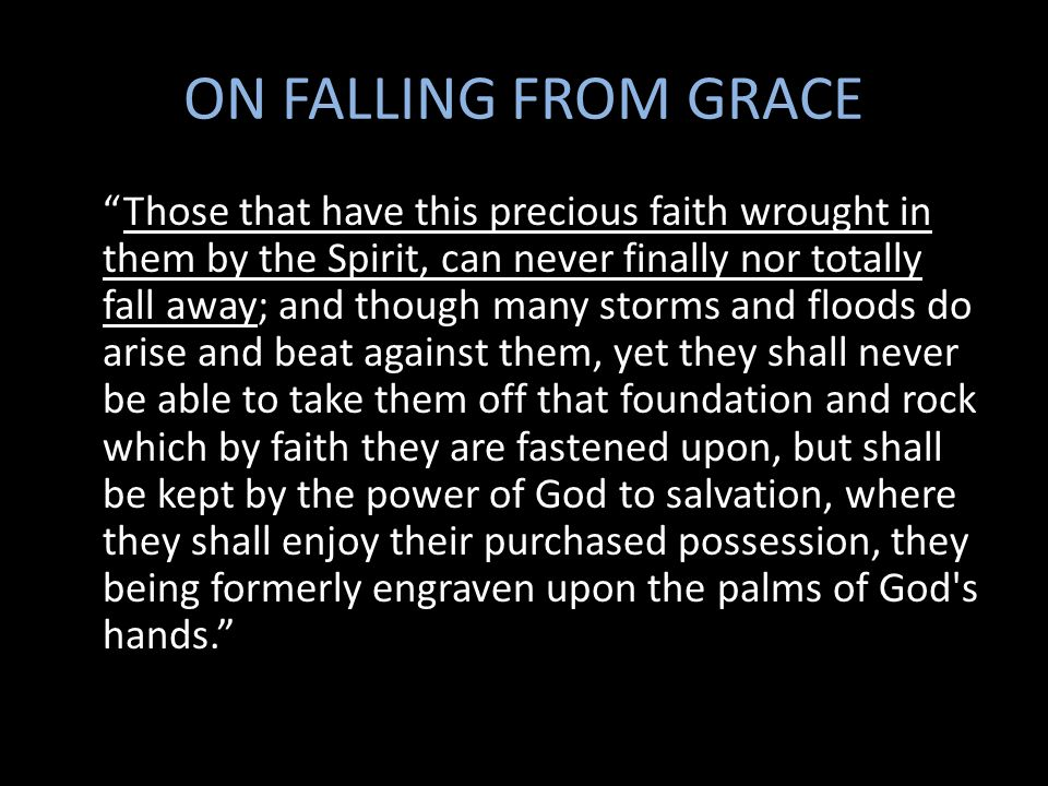 ON FALLING FROM GRACE