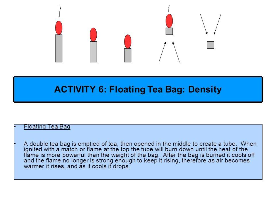ACTIVITY 6: Floating Tea Bag: Density