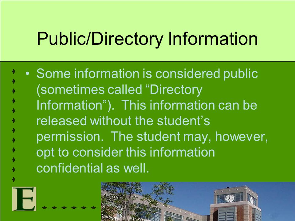 Public/Directory Information