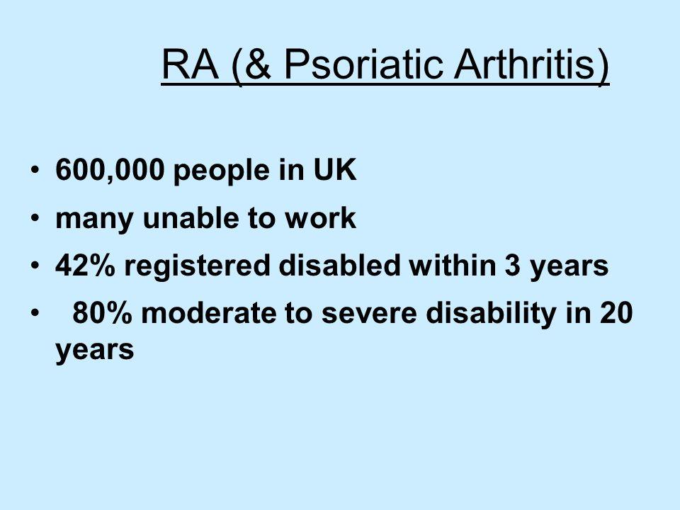RA (& Psoriatic Arthritis)