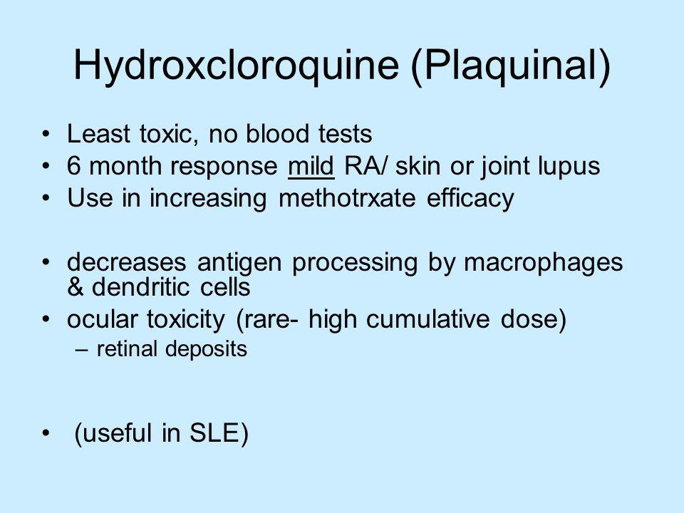 Hydroxcloroquine (Plaquinal)