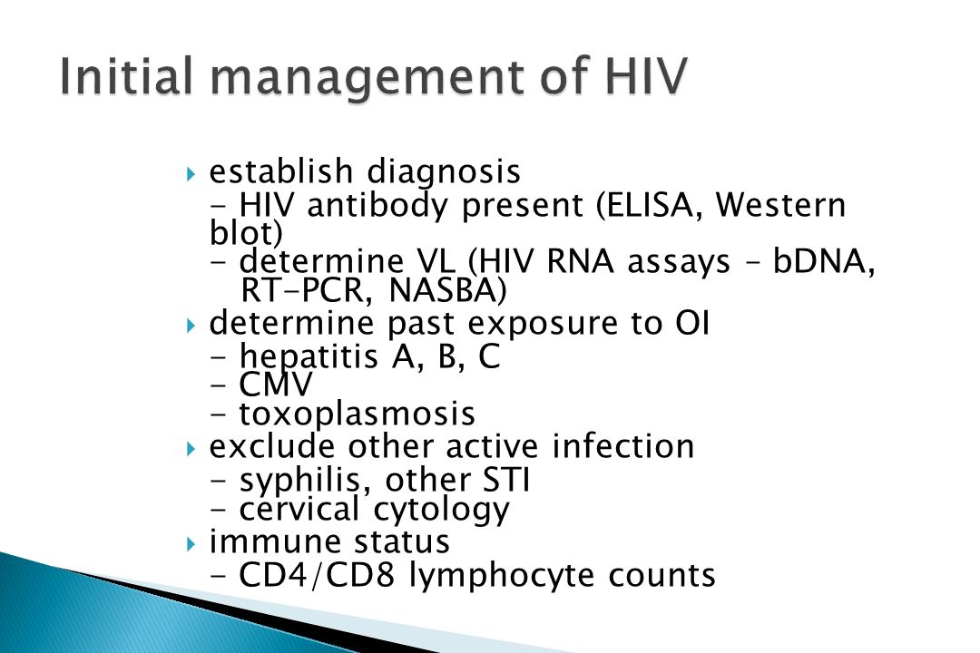 Initial management of HIV