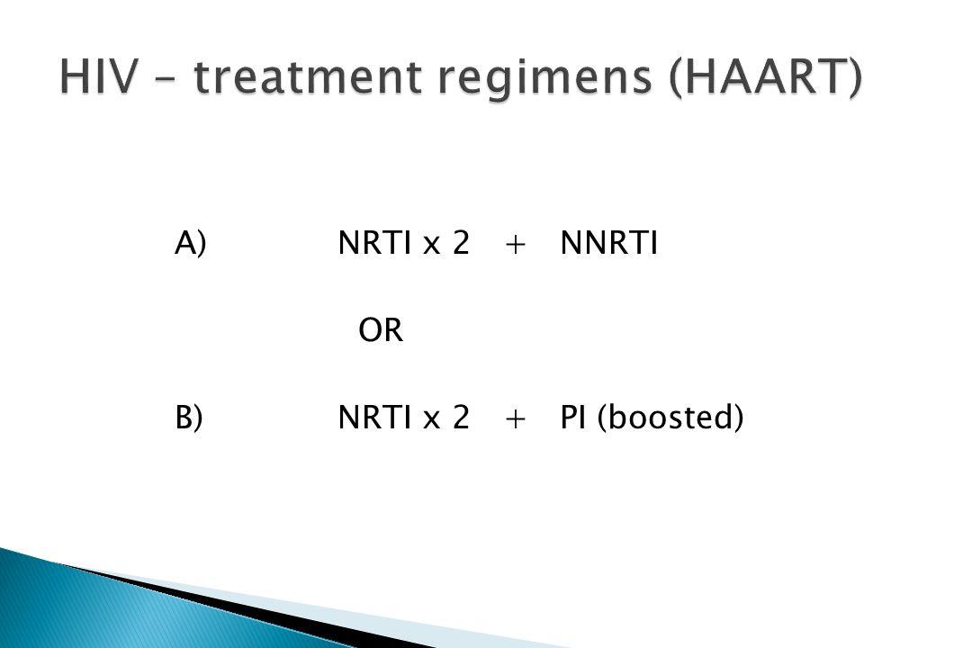 HIV – treatment regimens (HAART)