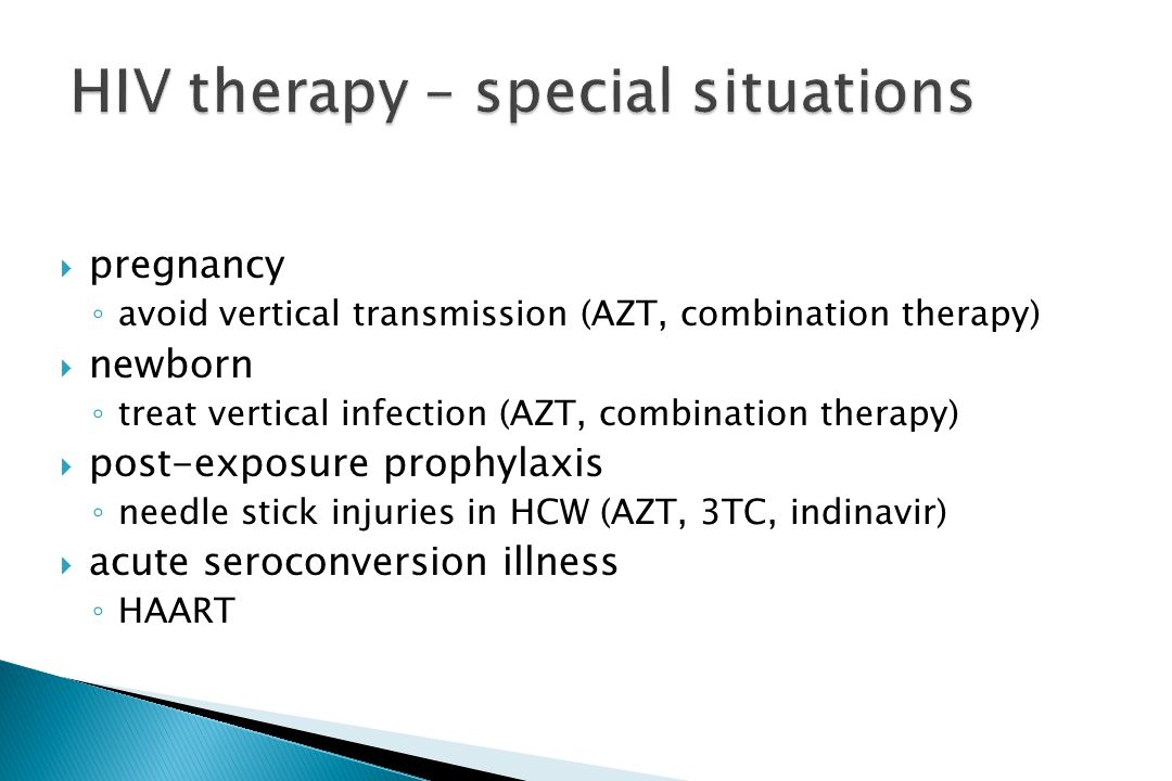 HIV therapy – special situations