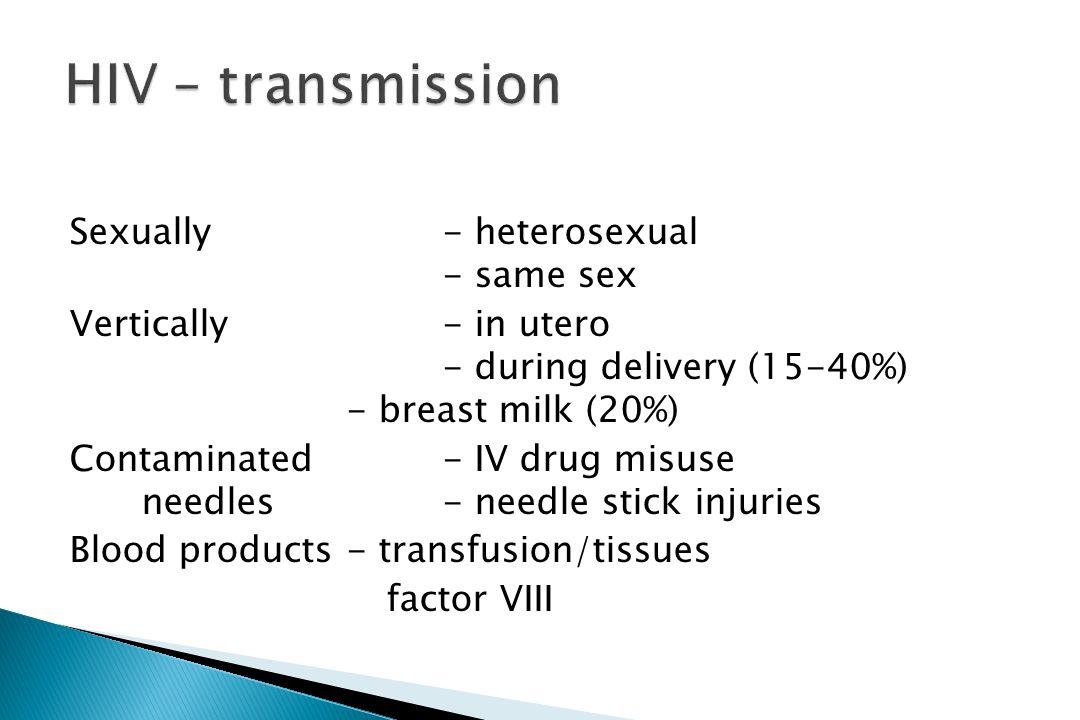HIV – transmission
