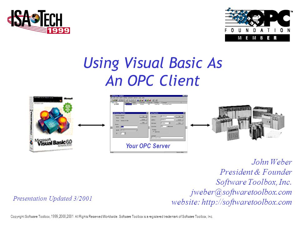 Using Visual Basic As An OPC Client