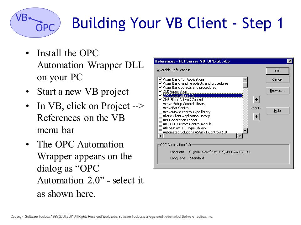 Building Your VB Client - Step 1